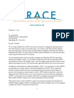 G.R.A.C.E. letter to ABWE regarding termination of  investigative contract