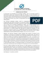 Comunicado LAIP 11feb2013