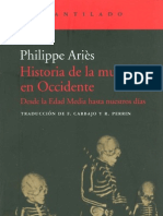 Aries Philippe Historia de La Muerte en Occidente