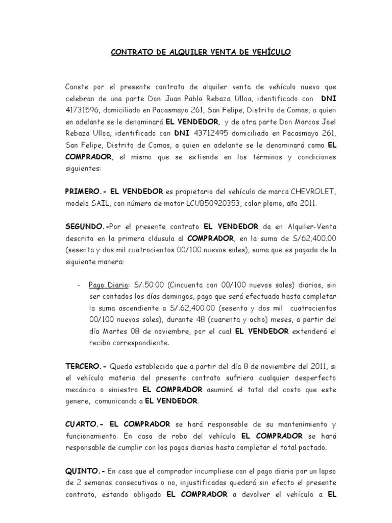 Documento Opcion Compra Venta De Vehiculo — CoolGals