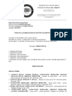 Bibliografie Penal Master B