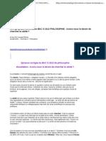 Corrig Gratuit Dissertation BAC S 2012 PHILOSOPHIE Avons-Nou