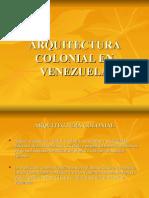 ARQUITECTURA COLONIAL EN VENEZUELA