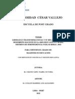 LIDERAZGO TRANSFORMACIONA. DSEMPEÑO DOCENTE 14-1-2013