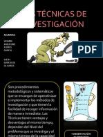 LAS TÉCNICAS DE INVESTIGACIÓN
