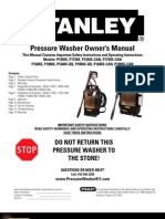 Stanley Pressure Washer Owner's Manual