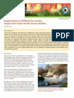 Health Effects of Wildland Fire Smoke