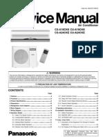 Manual Aire Acondicionado PANASONIC CS-A18CKE