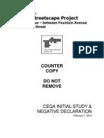 La Brea Initial Study - Negative Declaration
