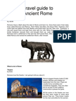 Travel Guide to Ancient Rome
