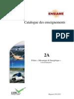 Catalogue Enseignements ME2A