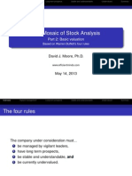 The Mosiac of Stock Analysis Part 2
