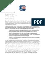 America Bikes Letter to President Obama on DOT Secretary