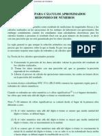 REGLAS PARA CÁLCULOS APROXIMADOS Y REDONDEO DE NÚMEROS
