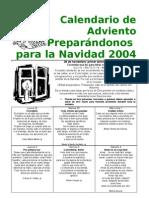 Calendario de Adviento2004