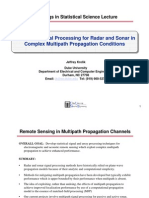 SAM Signal Processing Examples Statistical Signal Processing for Radar