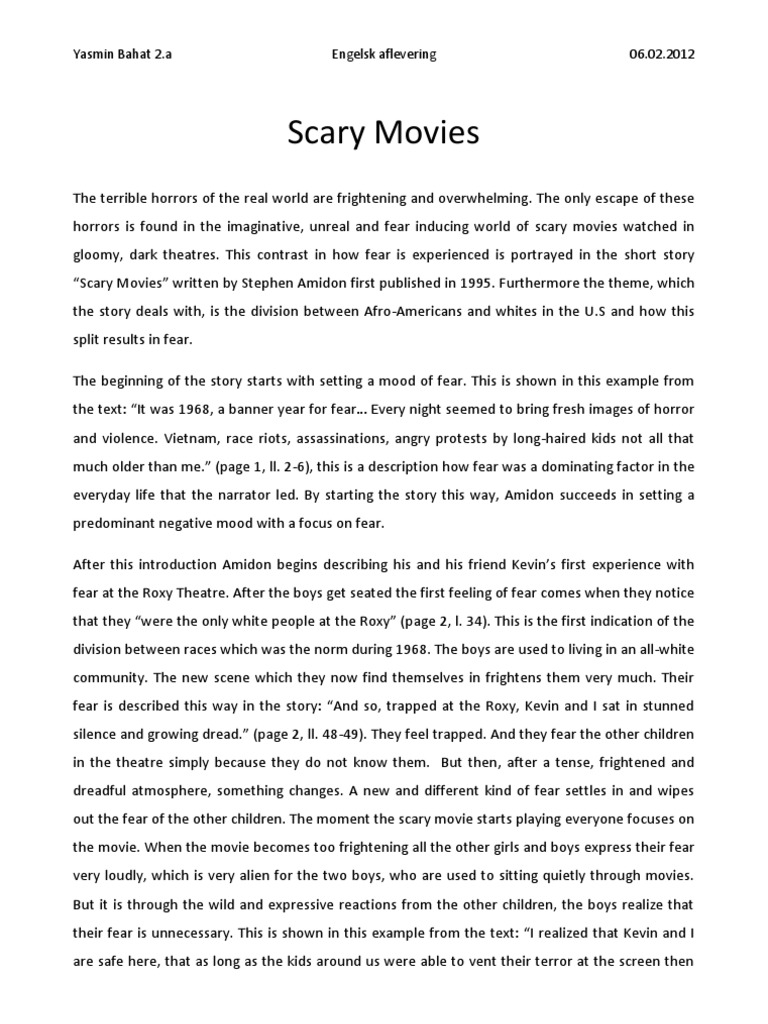 scary movies analysis fear