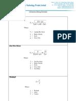 Ultrasonic Testing Formulas