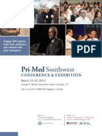 Pri-Med Southwest 2013 Full Conference Brochure