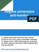 Régime alimentaire anti-hambre