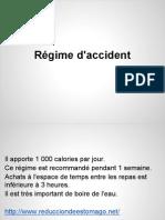 Régime d'accident