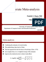 Multivariate meta-analysis