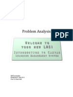 Introduction To Canvas LMS-Problem Analysis