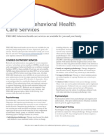 TRICARE Behavioral Health Care Services