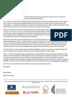 Letter to Myanmar VP