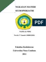 Ringkasan Neuropsikiatri Oleh Novela Tanuab(1008012026)