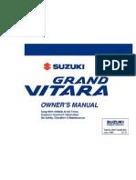 2006 Grand Vi Tara Owners Manual