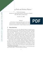 Wolfgang Pauli and Modern Physics