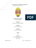 PS101 Historia de La Psicologia en Honduras