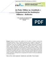 Emprego Poder Militar Cultura Organizacional