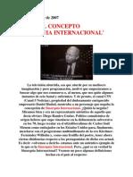 SOBRE EL CONCEPTO 'SINARQUIA INTERNACIONAL'
