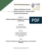 Protocolo extracción y manejo de muestras en Didelphidae