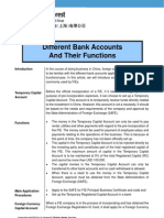 Doing Business in China - Different Bank Accounts and Their Functions