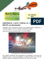 Ambulância e moto colidem no cruzamento da BR104 em Queimadas.docx