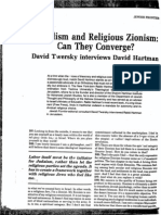 Interview with David Hartman.-Pluralism and Religious Zionism