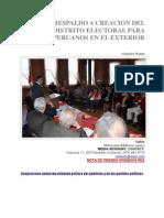 PLENO RESPALDO A CREACION DEL DISTRITO ELECTORAL PARA PERUANOS EN EL EXTERIOR