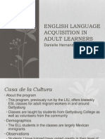 English Language Acquisition in Adult Learners