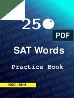 Sat 250 Words Practice Book