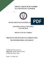 Proyecto Tecnico de Una Subestacion Transformadora Gis 220 20 Kv