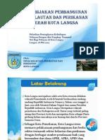 Kebijakan Pembangunan KP Kota Langsa