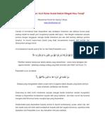Usul as-Sunnah Li Roddi al-Bid`ah - Usul Kesembilan