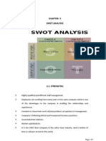 Chapter 5 Swot Analysis Chapter 6