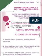 Hacia La Construccion de Un Programa de Formacion