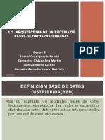 1.2 Arquitectura de Un Sistema de Bases de Datos Distribuidas