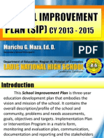 LNHS School Improvement Plan 2013 - 2015