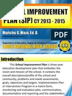 LNHS School Improvement Plan 2013 - 2015